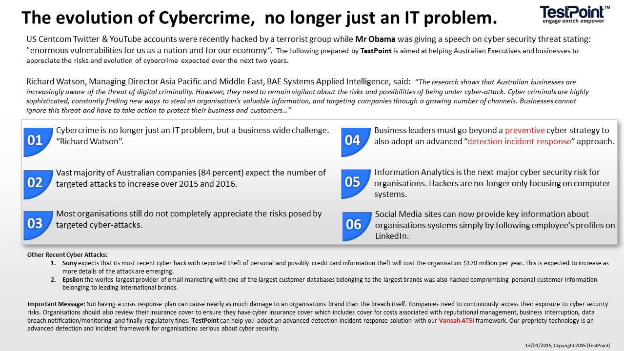 The evolution of cybercrime, no longer just an IT problem